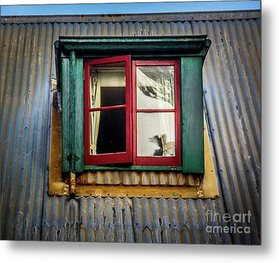 Metal Print featuring the photograph Red Windows by Perry Webster
