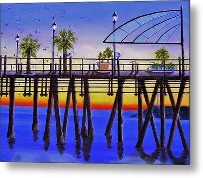 Redondo Beach Pier Metal Print