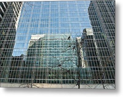 Reflected Buildings Metal Print by Svetlana Sewell