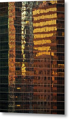 Reflecting Chicago Metal Print by Steve Gadomski