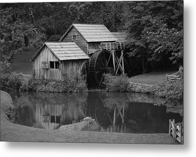 Reflecting The Mill Metal Print