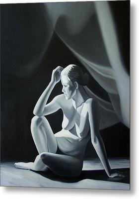 Reflection In Gray Metal Print by Stephen Degan