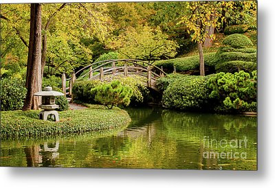 Metal Print featuring the photograph Reflections In The Japanese Garden by Iris Greenwell