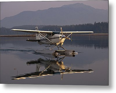 Reflections Of A Float Plane Metal Print