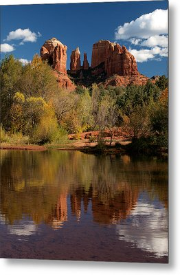 Reflections Of Sedona Metal Print by Joshua House