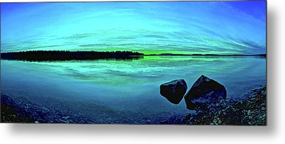 Reflections Of Serenity Metal Print by ABeautifulSky Photography