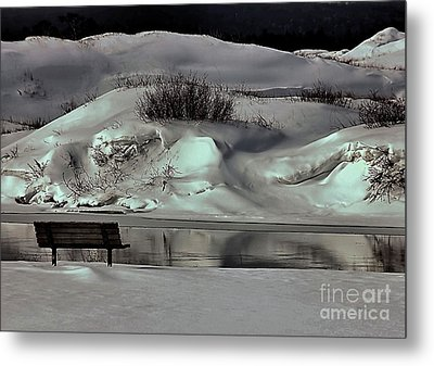 Reflections Of Winter Metal Print by Matthew Winn