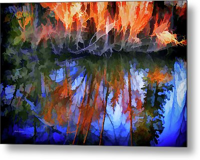 Reflections On A Small Pond Metal Print by Mick Anderson
