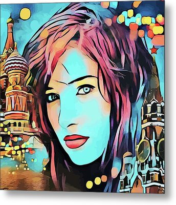 Remembering Moscow Russia Abstract Travel Vacation Art Metal Print