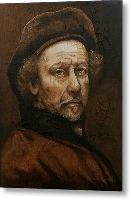 Metal Print featuring the painting Remembering Rembrandt by Al  Molina