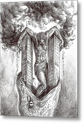 reptilluminatidomination II Metal Print by Darwin Leon