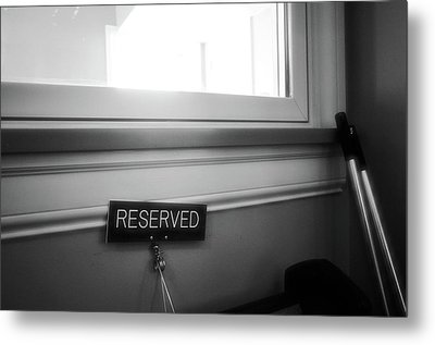 Reserved Metal Print by Jeanette O'Toole