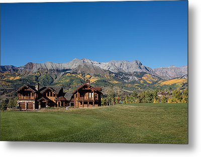 Residences In Mountain Village -- A Planned Community Adjacent To Telluride Metal Print by Carol M Highsmith
