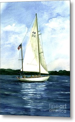Metal Print featuring the painting Resolute by Nancy Patterson
