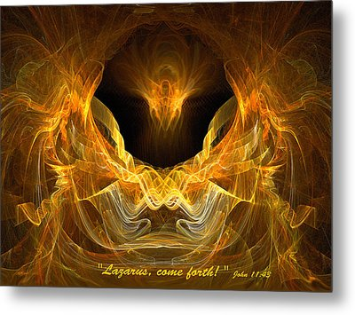 Metal Print featuring the digital art Resurrection by R Thomas Brass