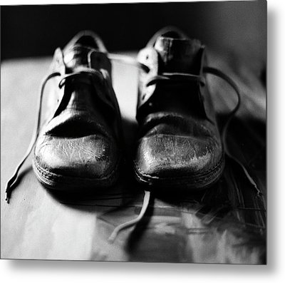 Retired Old Shoes Metal Print