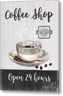 Retro Coffee Shop 1 Metal Print by Debbie DeWitt