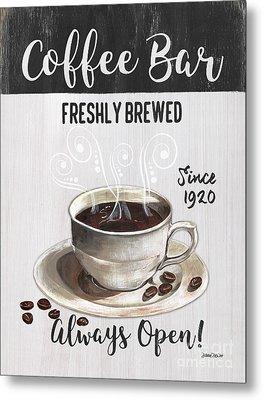 Retro Coffee Shop 2 Metal Print