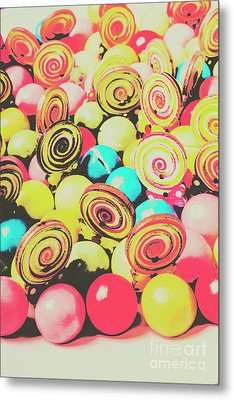 Retro Confectionery Metal Print