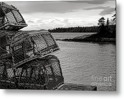 Retro Maine Scene  Metal Print