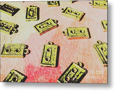 Retro Music Tapes Metal Print by Jorgo Photography - Wall Art Gallery
