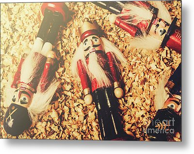 Retro Nutcrackers Metal Print by Jorgo Photography - Wall Art Gallery