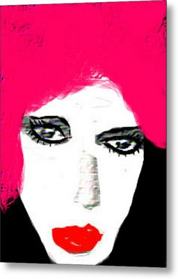 Metal Print featuring the digital art Retro Pink by Rc Rcd