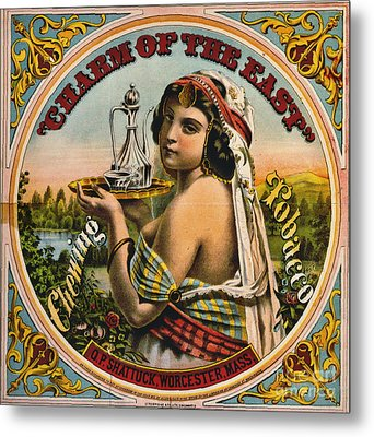 Retro Tobacco Label 1872 Metal Print