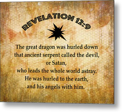 Revelation 12 Great Dragon Metal Print