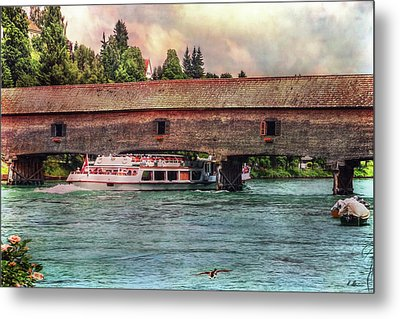 Metal Print featuring the photograph Rhine Shipping by Hanny Heim