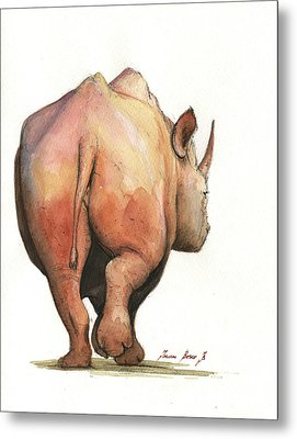 Rhino Back Metal Print by Juan Bosco