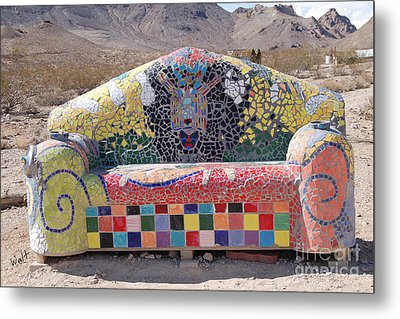 Metal Print featuring the photograph Rhyolite Sofa by Walter Chamberlain