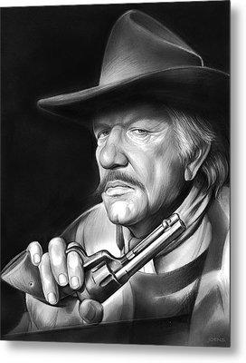 Richard Boone Metal Print by Greg Joens