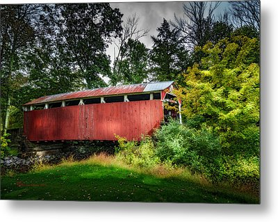 Richards Covered Bridge Metal Print