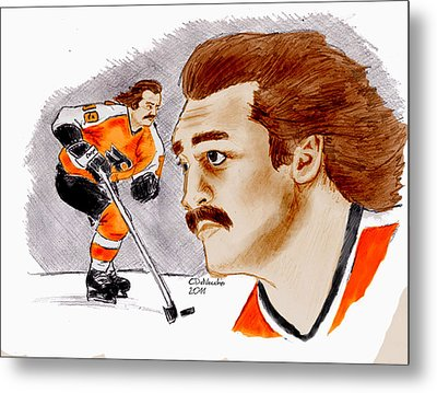 Metal Print featuring the drawing Rick Macleish - Color by Chris  DelVecchio