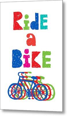 Ride A Bike - Sketchy  Metal Print by Andi Bird