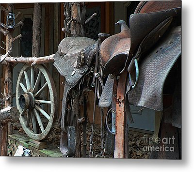 Ride The Rail Metal Print