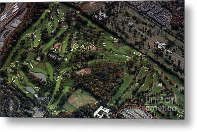 Ridgewood Country Club Aerial Photo Metal Print