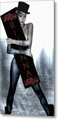 Rihanna Love Card By Gbs Metal Print by Anibal Diaz