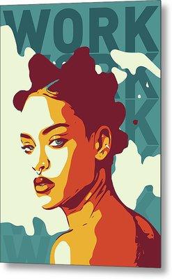 Rihanna Metal Print by Greatom London