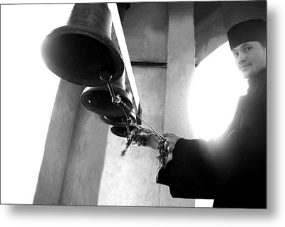 Ringing The Bells At The Monastery Metal Print by Emanuel Tanjala