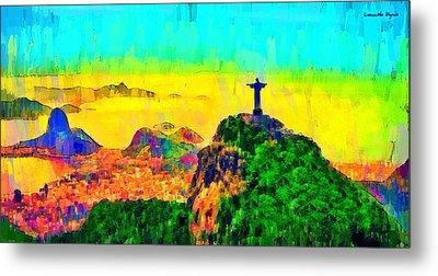 Rio De Janeiro Panoramic 3 - Da Metal Print