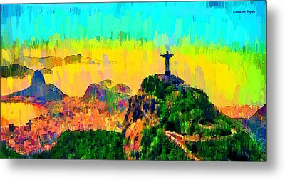 Rio De Janeiro Panoramic - Da Metal Print