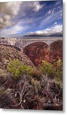 Metal Print featuring the photograph Rio Grande Gorge Bridge by Jill Battaglia