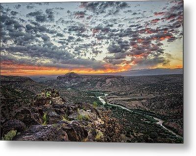 Rio Grande River Sunrise 2 - White Rock New Mexico Metal Print