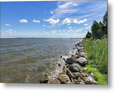 Metal Print featuring the photograph Rip-rap On The Chester River by Charles Kraus