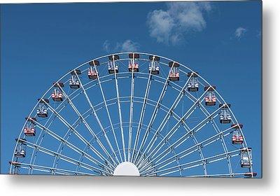 Rise Up Ferris Wheel In The Clouds Seaside Nj Metal Print