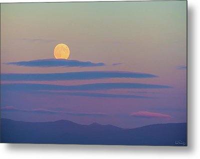 Rising Harvest Moon  Metal Print