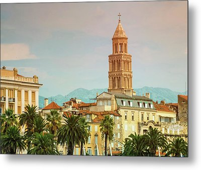 Riva Waterfront, Houses And Cathedral Of Saint Domnius, Dujam, D Metal Print