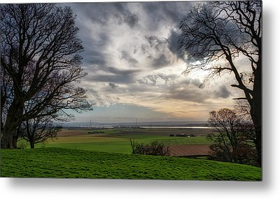 Metal Print featuring the photograph River Forth View From Clackmannan Tower by Jeremy Lavender Photography